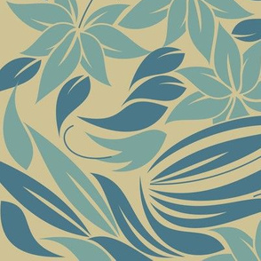 tender flowers in blue