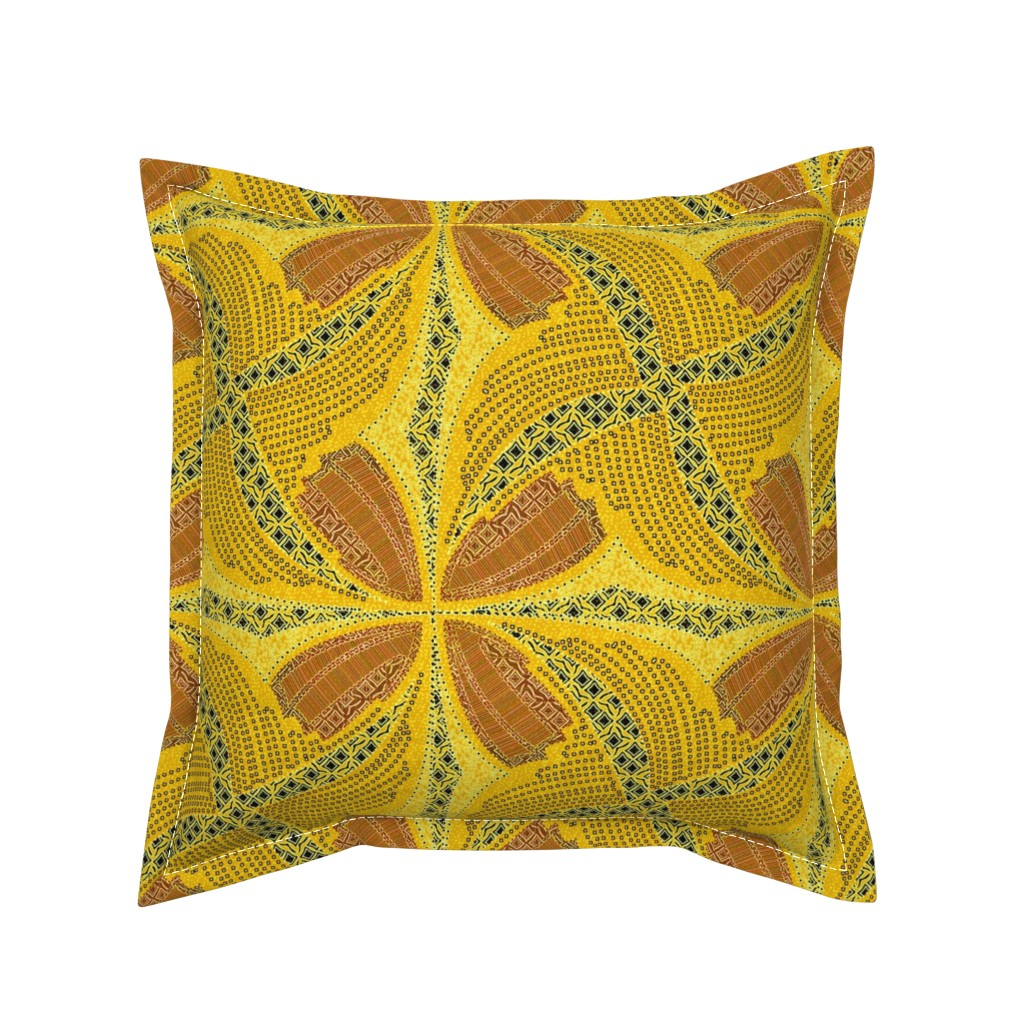 Serama Throw Pillow featuring spindots afrikans solar flare by glimmericks