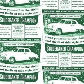 new 1949 Studebaker Champion Ad 4 door sedan