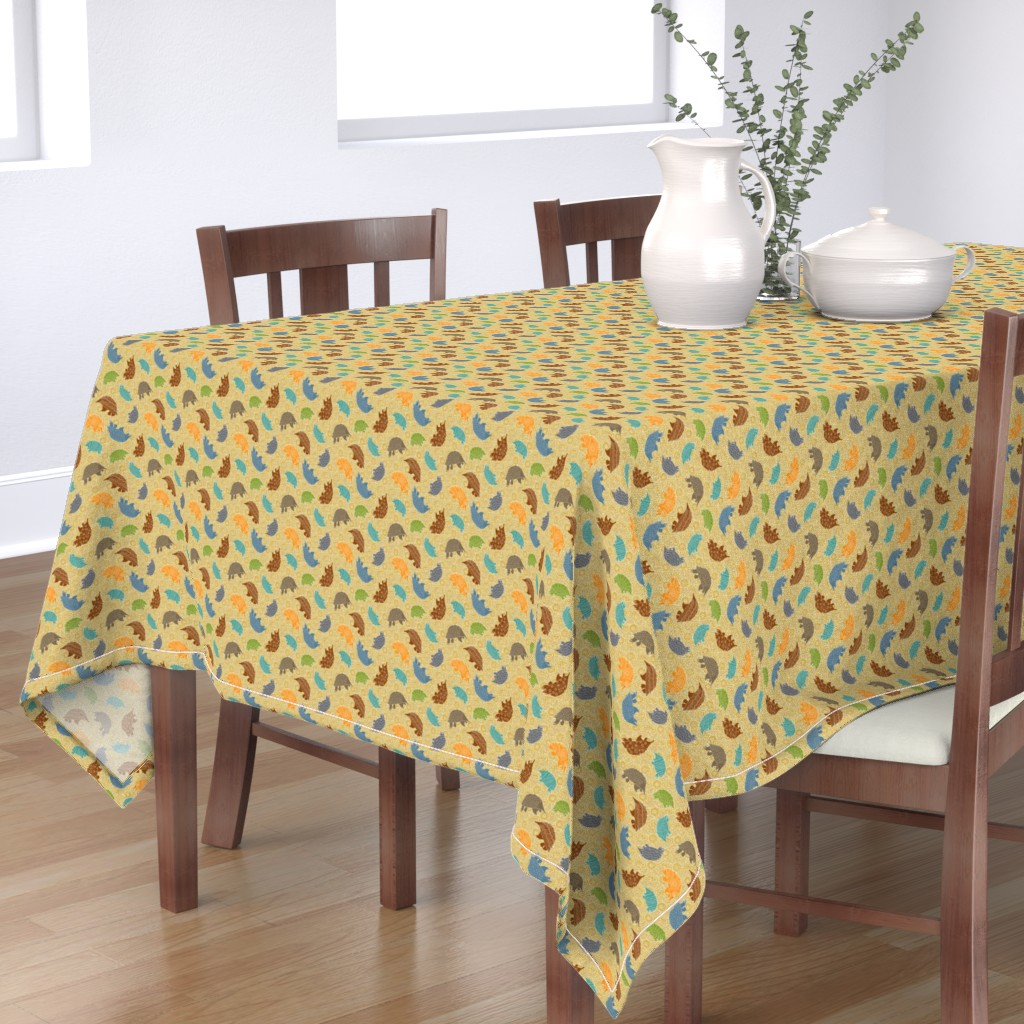 Bantam Rectangular Tablecloth featuring Tossed Anteaters in the Dreamtime by vo_aka_virginiao