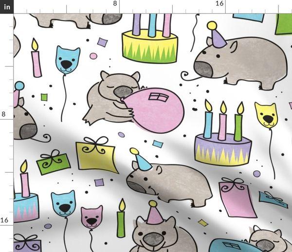 0807fa21c76a66 Happy Birthday Wombat! - Spoonflower
