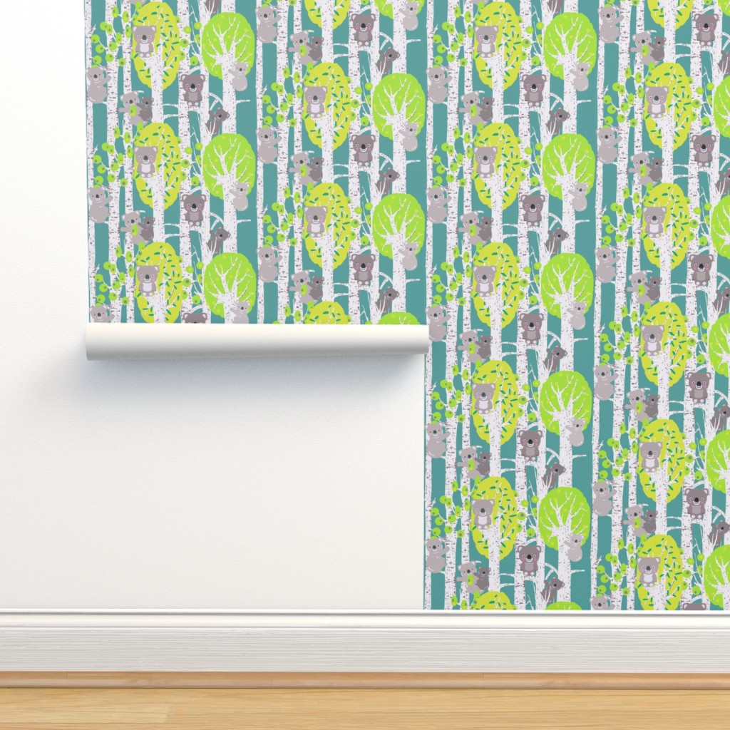 Isobar Durable Wallpaper featuring koalas in the trees by katarina