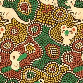 Australia Animals | green