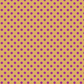 dots_dark_pink_on_mustard
