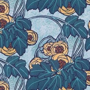 Art nouveau floral