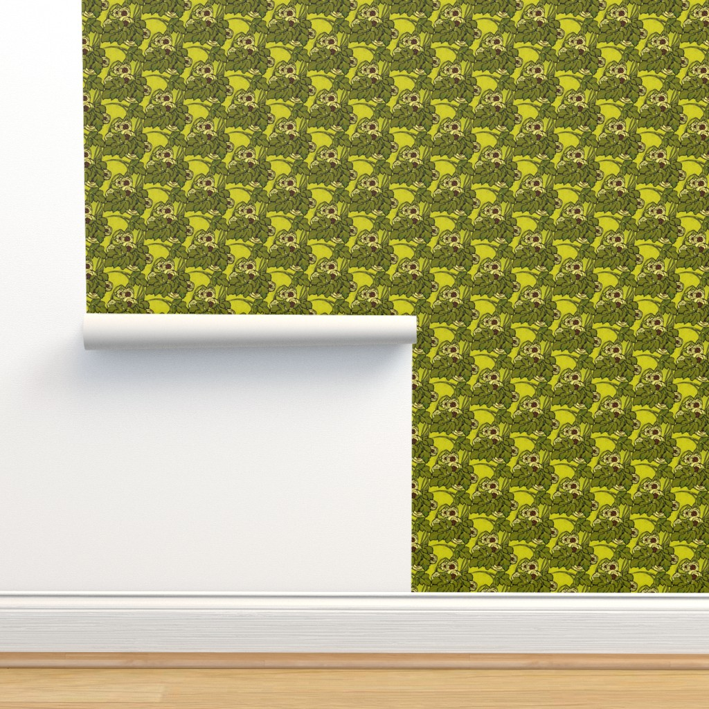 Art Nouveau Floral In Greens On Isobar By Unseen Gallery Fabrics