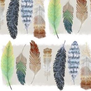 Feather Lunch Sacks Zen Rainbow