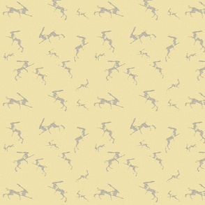 Leaping Hares Wallpaper