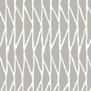 Triangle - Hand-Drawn  Geometric - Grey - Medium Scale