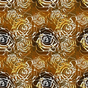 Roses in stylized bronze