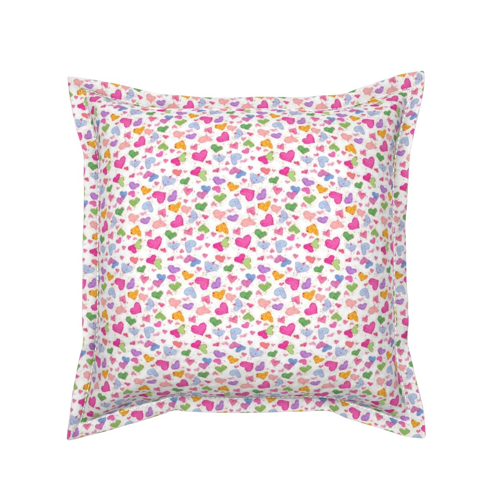 Serama Throw Pillow featuring Candy Hearts by countrygarden