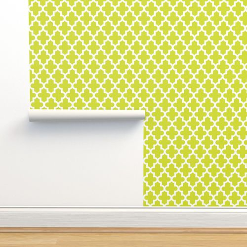 Wallpaper Lime Green Moroccan