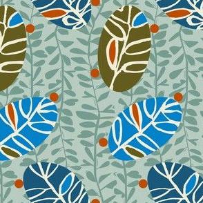Leaf Petite-Blue Colorway