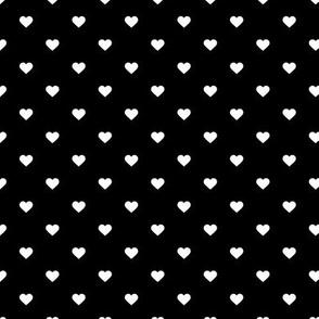 Black and White Polka Dot Hearts