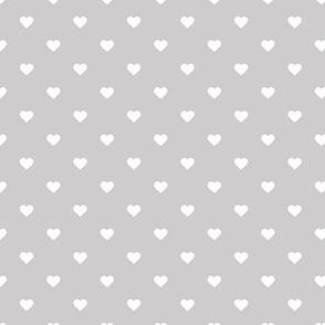Light Gray Polka Dot Hearts