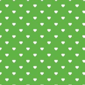 Kelly Green Polka Dot Hearts