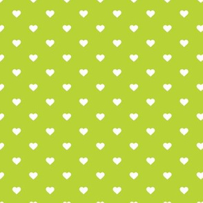 Apple Green Polka Dot Hearts
