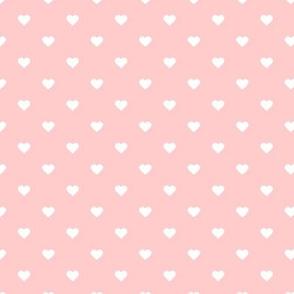 Light Pink Polka Dot Hearts