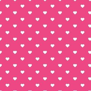 Hot Pink Polka Dot Hearts