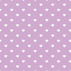 Lilac Purple Polka Dot Hearts