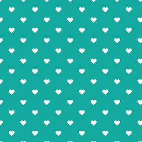 Teal Polka Dot Hearts