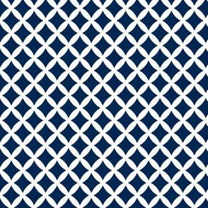 Navy Blue Modern Diamonds
