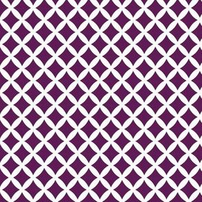 Plum Purple Modern Diamonds