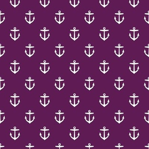 Plum Purple Anchors