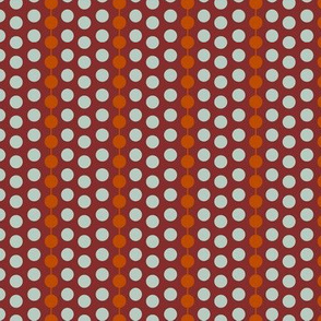 Rust Dot Stripe