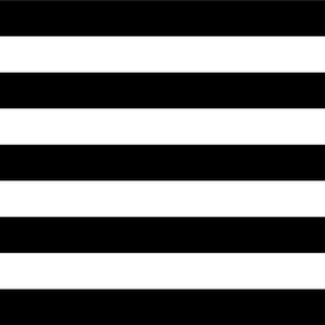 Black and White Wide Stripes