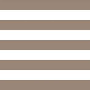 Mocha Brown Wide Stripes