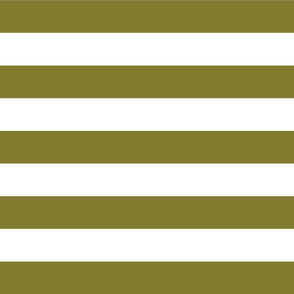 Olive Green Wide Stripes