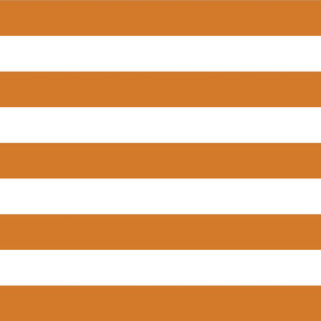 Burnt Orange Wide Stripes