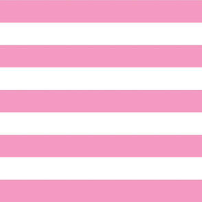 Bubblegum Pink Wide Stripes