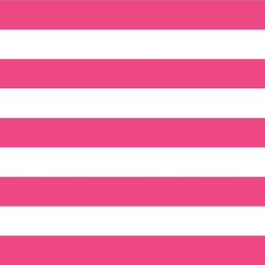 Hot Pink Wide Stripes