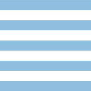 Sky Blue Wide Stripes