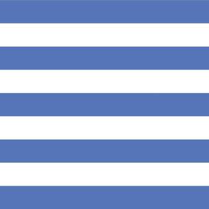 Royal Blue Wide Stripes