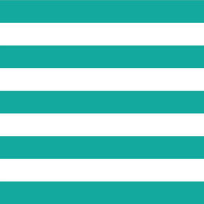 Teal Wide Stripes