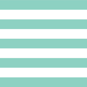 Aqua Wide Stripes
