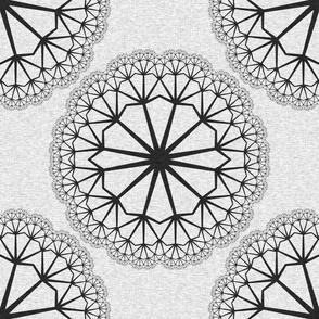 FlowerLinens - Black