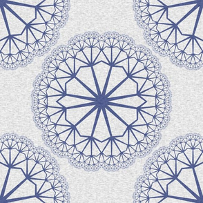 FlowerLinens - Blue