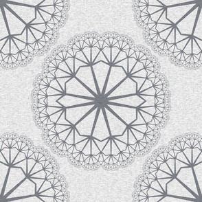 FlowerLinens - Grey