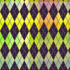 Argyle de Mardi Gras - Bright - Contest Scale