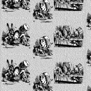 Alice Vintage Text Toile Black/White (small)