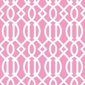 Bubblegum Pink Trellis