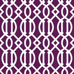 Plum Purple Trellis