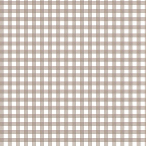 Mocha Brown Gingham