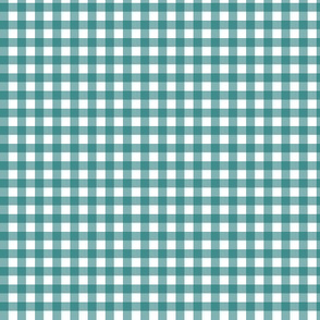 Dark Teal Gingham