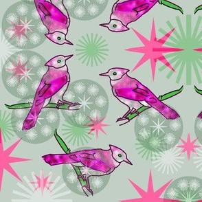Pink Bluejays - Green