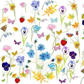 Flower Hunter Fabric